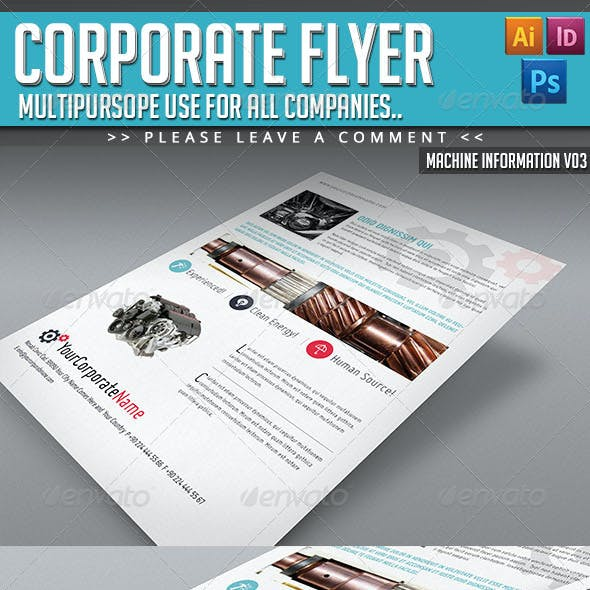 Corporate Flyer - Machine Informations V03