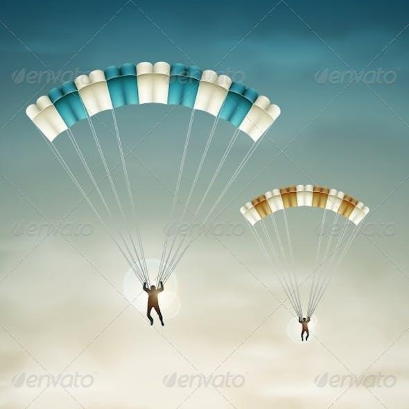 Two Parachutists