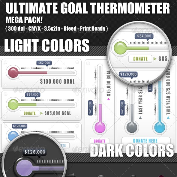Ultimate Goal Thermometer Bundle