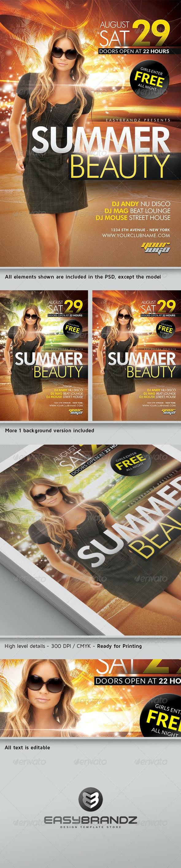 Summer Beauty Flyer Template - Events Flyers