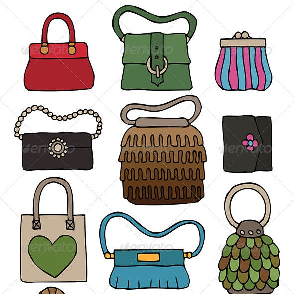 Hand Drawn Bags