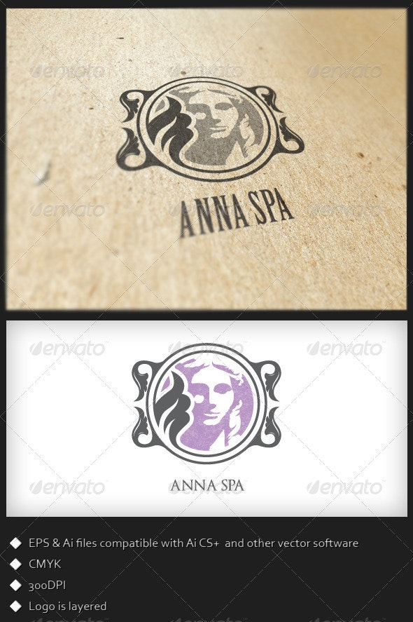 Anna Spa - Logo Template - Humans Logo Templates