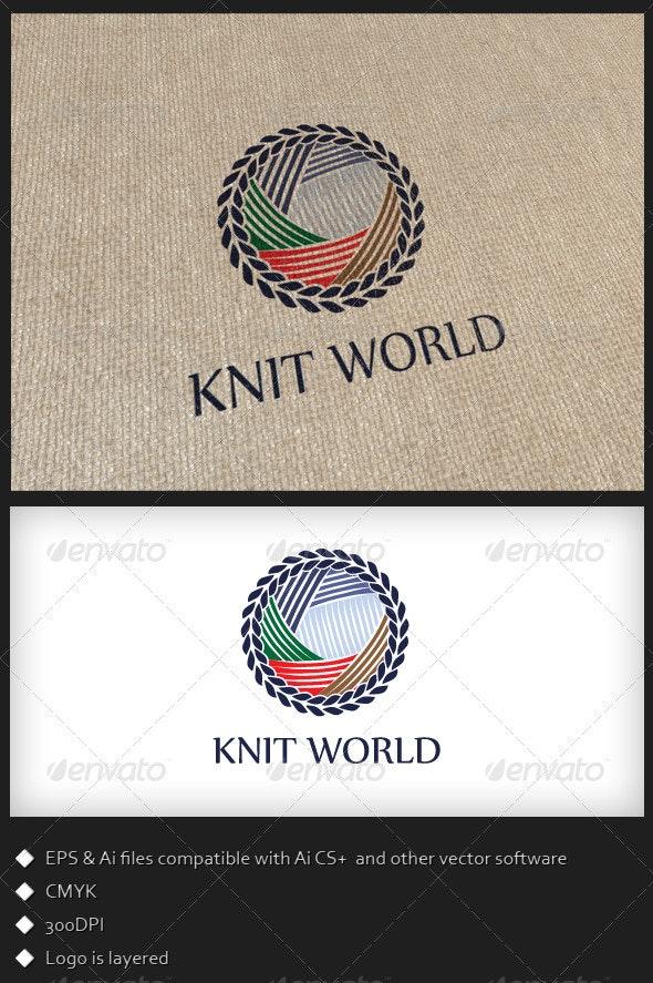 Knit World - Logo Template - Symbols Logo Templates