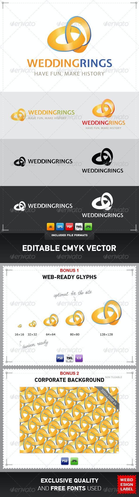 Wedding Rings Logo - Symbols Logo Templates