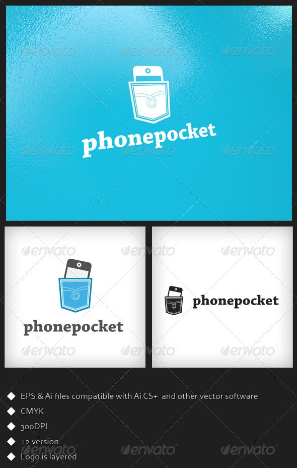 Phone Pocket - Logo Template - Symbols Logo Templates