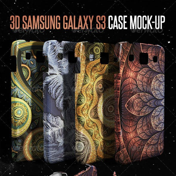 3D Galaxy S3 Case Mock-up