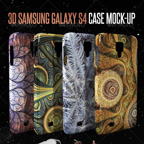 3D Galaxy S4 Case Mock-up