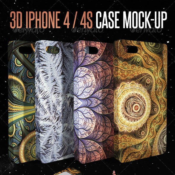3D Phone 4 / 4S Case Mock-up