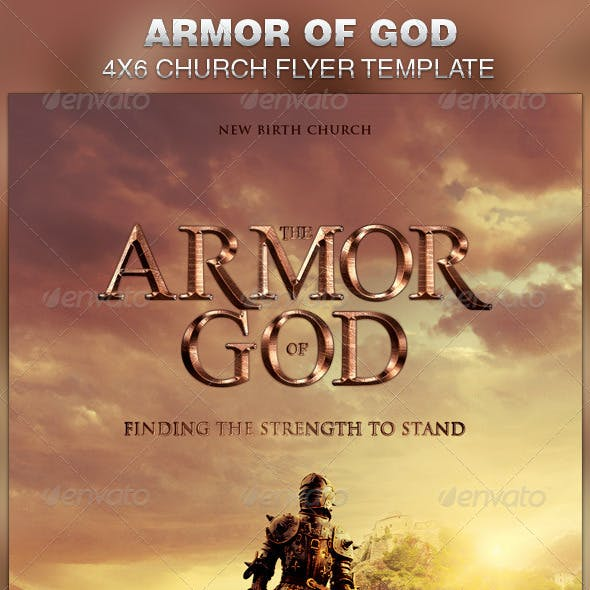 Armor of God Church Flyer Template