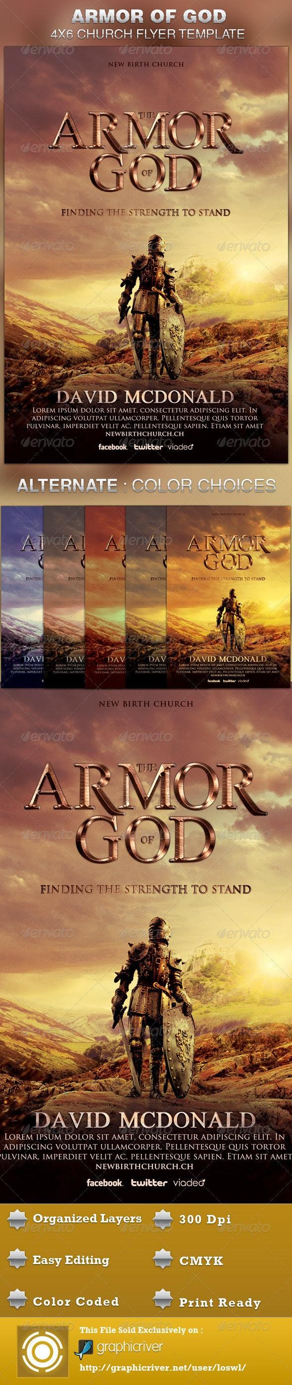 Armor of God Church Flyer Template - Church Flyers