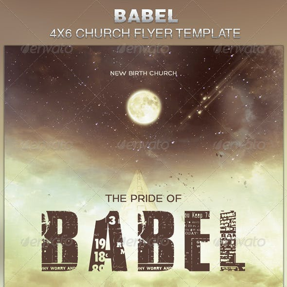 Babel Church Flyer Template