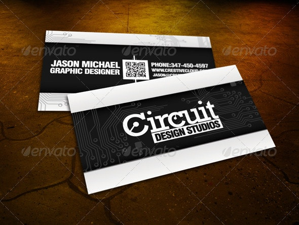 The Circuit Business Card - Business Cards Print Templates