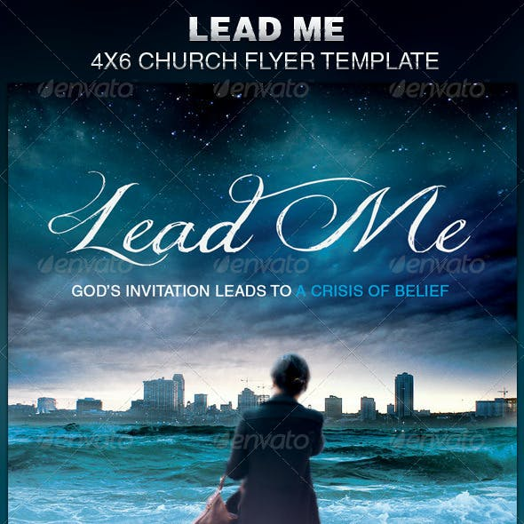 Lead Me Church Flyer Template