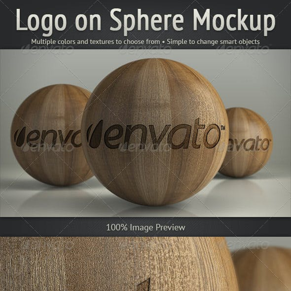 Logo on Sphere Mockup