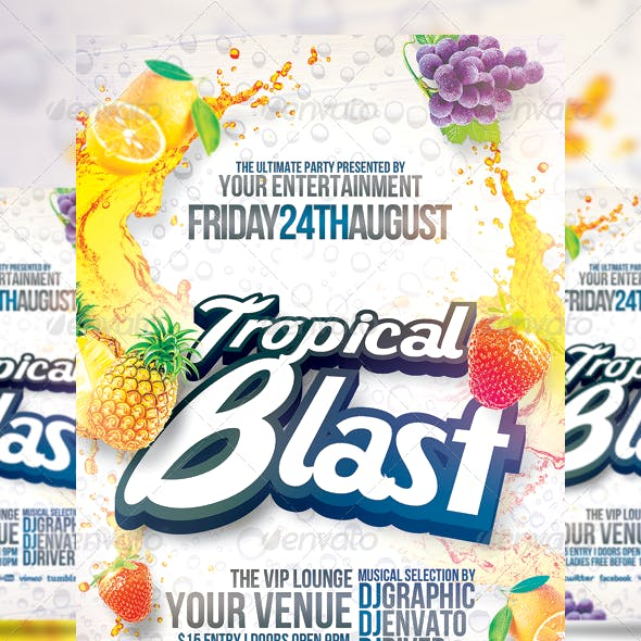 Tropical Blast Party Flyer
