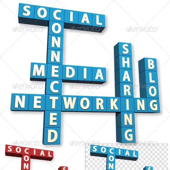 Social Network Crossword 3D