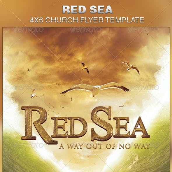 Red Sea Church Flyer Template