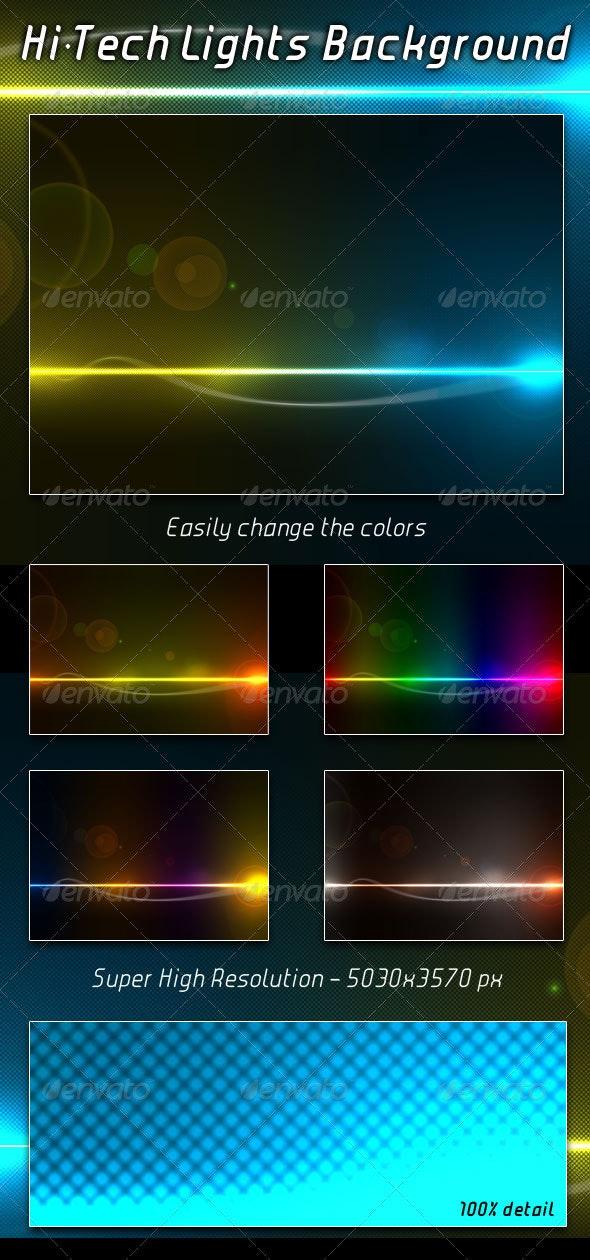 Hi-Tech Lights Background - Backgrounds Graphics