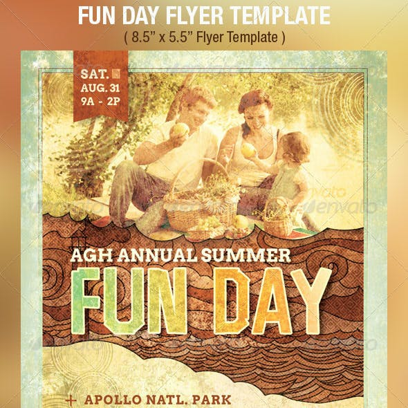 Fun Day Event Flyer Template