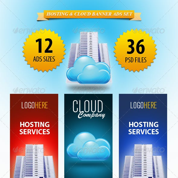 Hosting & Cloud Banner ad Set
