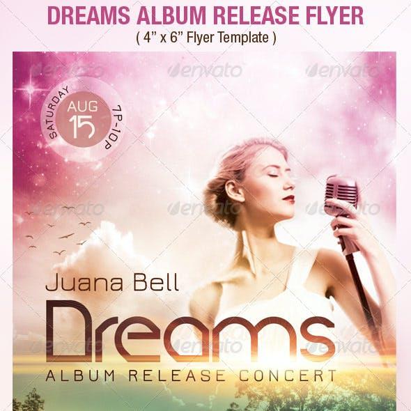 Dreams Album Release Flyer Template
