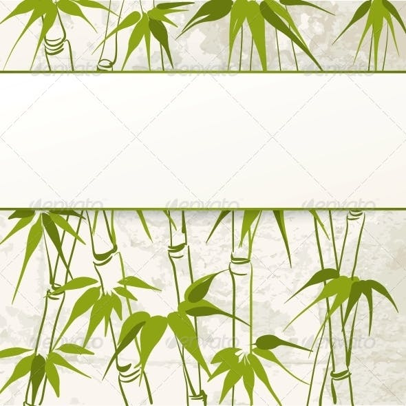 Bamboo with Leaves Pattern