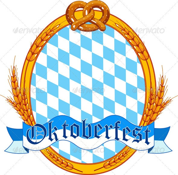 Oktoberfest  oval  label design - Seasons/Holidays Conceptual
