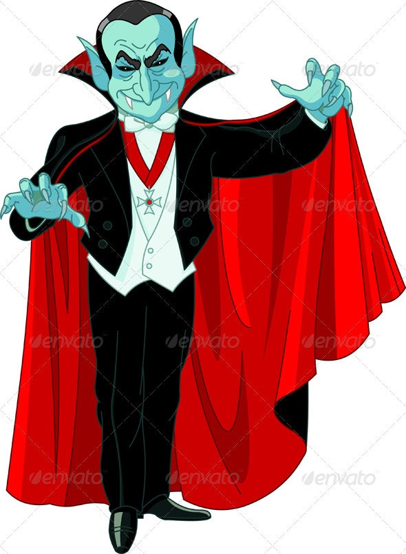 Cartoon Count Dracula - Halloween Seasons/Holidays