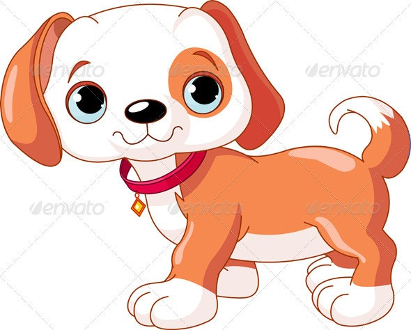 Cute Puppy walking - Animals Characters