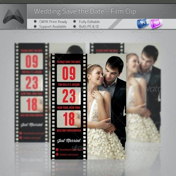Love Film Clip II - Wedding Save the Date Template