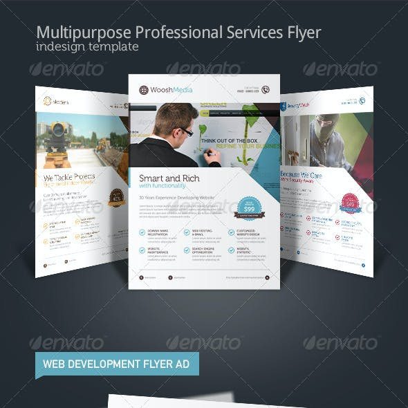 Web Development Flyer Graphics Designs Templates