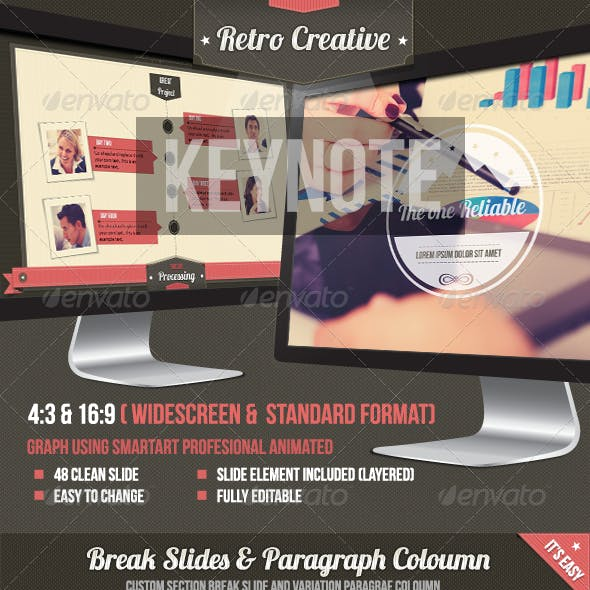 Retro Business Creative Agency Keynote Template