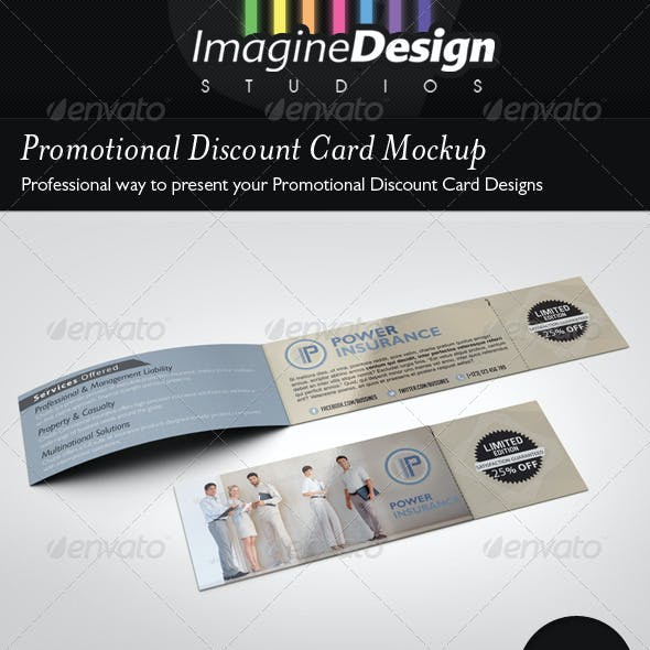 Promotional Discount Card Mockup
