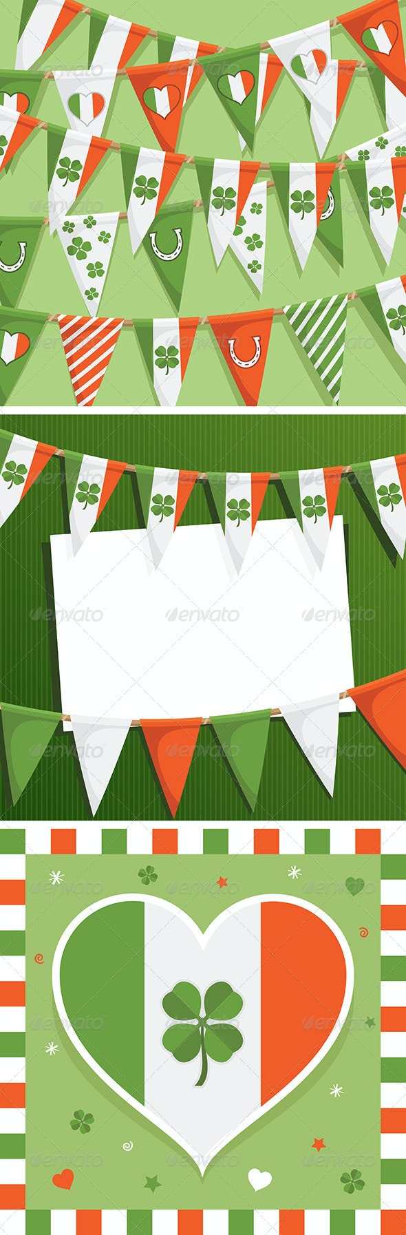 St Patricks Day Decorations - Backgrounds Decorative