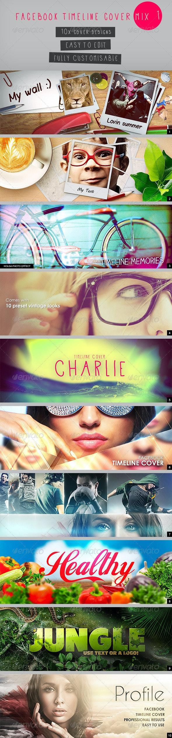 Facebook Timeline Cover Mix 1 - Facebook Timeline Covers Social Media
