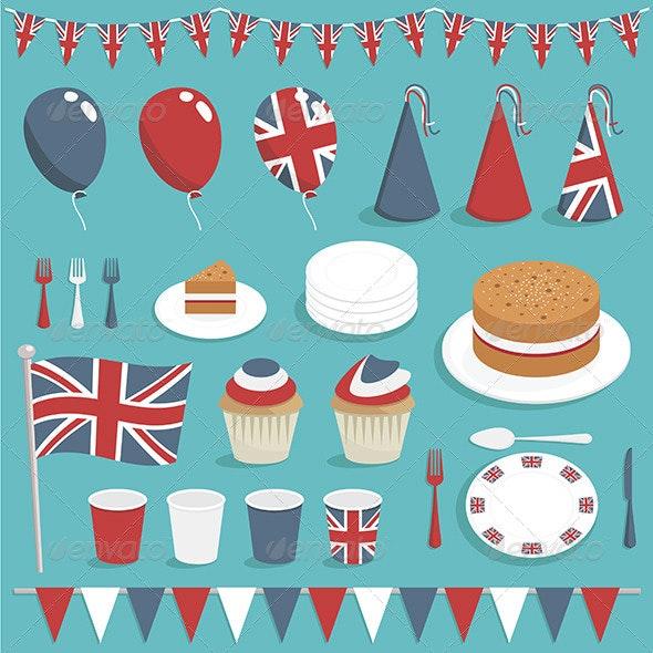 UK Party Decorations - Decorative Symbols Decorative