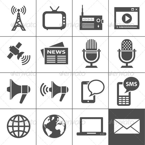 Media Icon Set. Simplus series