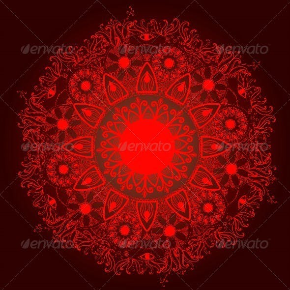 Ornamental Round Lace Pattern.Delicate Circle