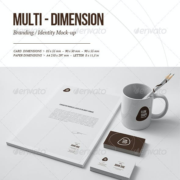 Multi-dimension Branding / Identity Mock-up 4