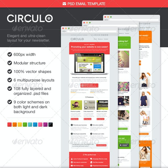 Circulo PSD Email Template
