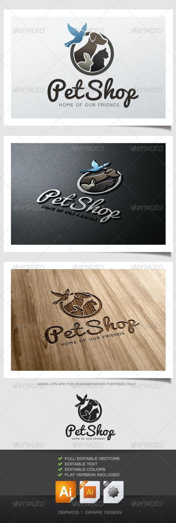 Pet Shop Logo V.02 - Animals Logo Templates