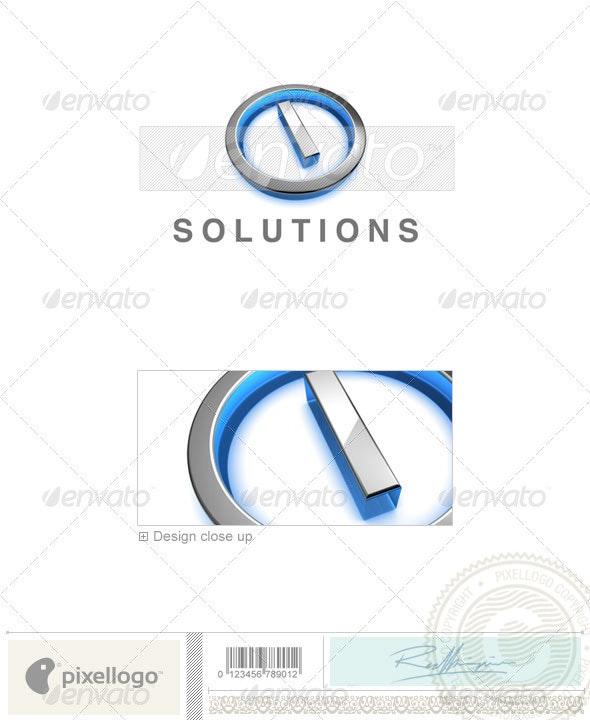 I Logo - 3D-683-I - Letters Logo Templates