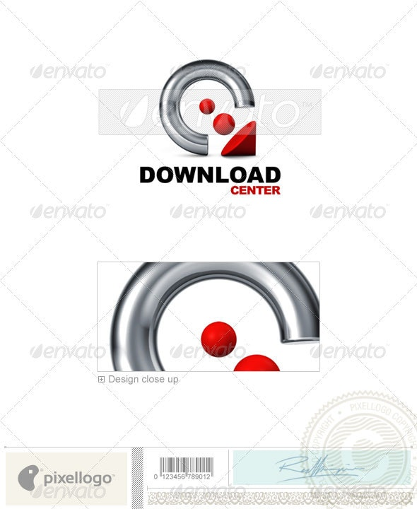 Technology Logo - 3D-540 - 3d Abstract