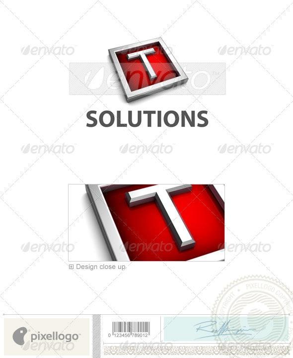 T Logo - 3D-549-T - Letters Logo Templates