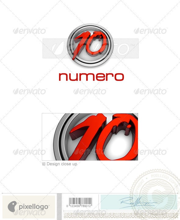Numbers Logo - 3D-5 - Numbers Logo Templates