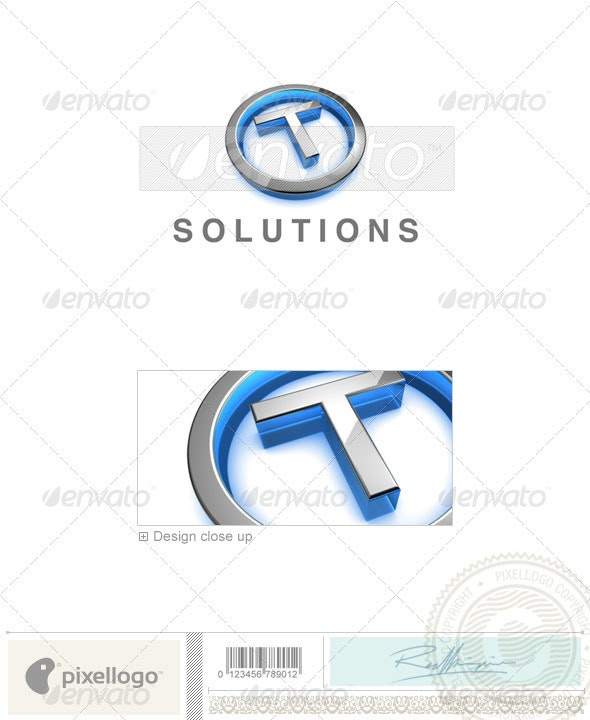 T Logo - 3D-683-T - Letters Logo Templates