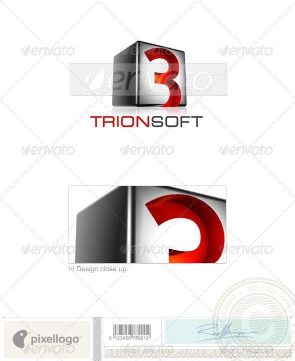 Technology Logo - 3D-523 - 3d Abstract