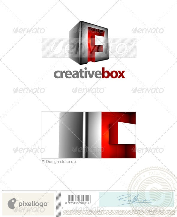F Logo - 3D-554-F - Letters Logo Templates