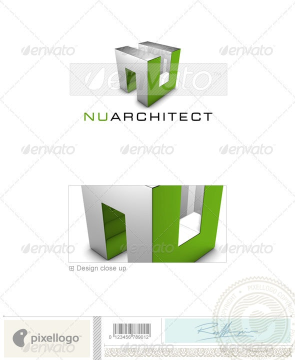 Home & Office Logo - 3D-647 - 3d Abstract