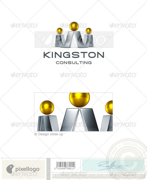 Consulting Logo - 3D-700 - 3d Abstract